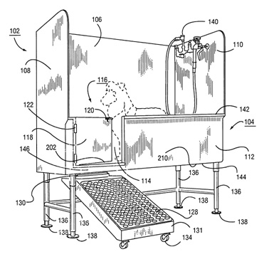 TriStar Vet blog: This diagram is part of the patent documentation for our dog bath tubs with swivel ramp.