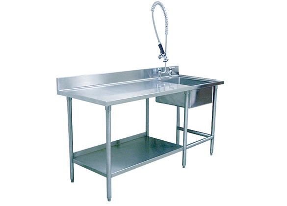 Stainless Prep Table With Sink : ... , Stainless Steel Veterinary Sink for Kennel Prep TriStar Vet