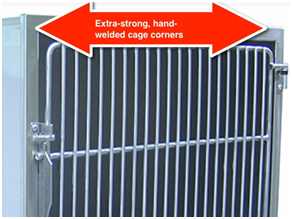 TriStar Vet's hand-welded Titan cage corners turn the frame into one solid piece