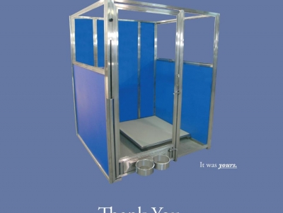 TriStar Vet ad for veterinary equipment: Gorgeous kennel panels in stainless steel and Starlite color