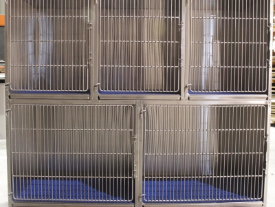 TriStar Vet cage photo: We're happy to work with you for the best stainless steel cage configuration