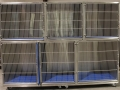 TriStar Vet cage photo: Stackable stainless steel cages are hand-welded so doors never become misaligned