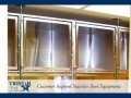 TriStar Vet cage photo: Stainless steel veterinary cages with glass doors for easy patient viewing