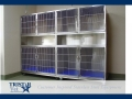 TriStar Vet cage photo: Turn any corner into a functional area with stackable stainless steel cages