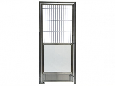 TriStar Vet kennel photo: Our stainless steel rod door with an open tempered glass area belowweb.jpg