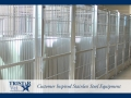 TriStar Vet kennel photo: heavy-gauge stainless steel kennels stand up to constant use over time