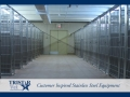 TriStar Vet kennel photo: Designed with stainless steel kennel panels and rod doors to last a lifetime