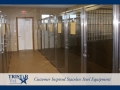 TriStar Vet kennel photo: Raised stainless steel kennel floor plans fit into any existing space