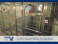 TriStar Vet kennel photo: An elegant solution with stainless steel rod doors and white Starlite panels
