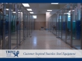 TriStar Vet kennel photo: Efficiency in stainless steel, glass and Starlite color panels for privacy