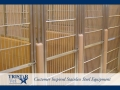 TriStar Vet kennel photo: This kennel uses our stainless steel rod doors with hands-free latch