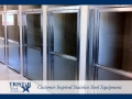 TriStar Vet kennel photo: The open kennel doors in this design include rain-glass privacy panels