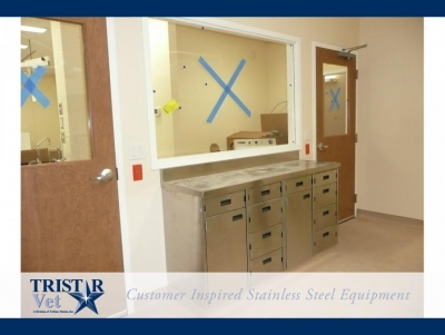 TriStar Vet treatment equipment photo: Our stainless steel cabinets offer choices in drawers and doors