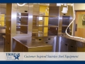 TriStar Vet treatment equipment photo: Workflow made easy with stainless steel shelves and cabinets