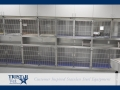 TriStar Vet treatment equipment photo: Our stainless steel cages, sinks and tables work harmoniously