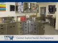 TriStar Vet treatment equipment photo: Everything stored conveniently in stainless steel cabinets, shelves