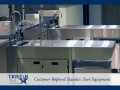 TriStar Vet treatment equipment photo: Ready for anything - stainless steel wet prep tables and storage