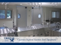 TriStar Vet treatment equipment photo: This bright stainless steel treatment room is a veterinary dream