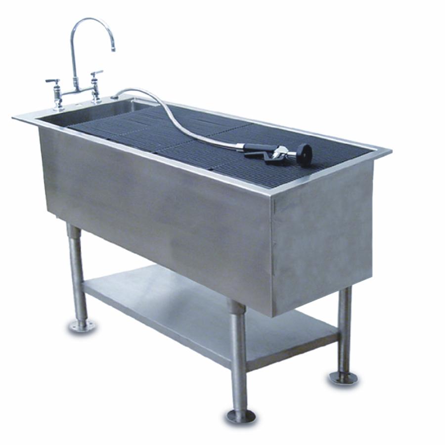 Veterinary Wet Prep Standard Sloping Drop In Tubs