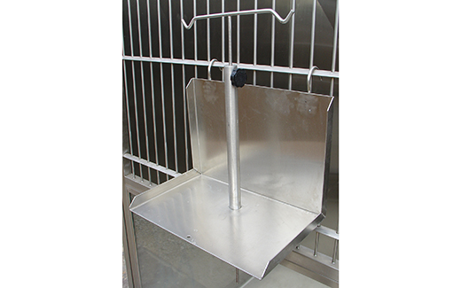 Stainless Steel Veterinary Kennel Mount Infusion Platform