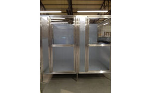 Raised Kennel Glass Door