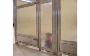 Kennel Rain Glass Door