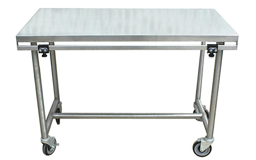 Veterinary Electric Mobile Lift Table In Stainless Steel