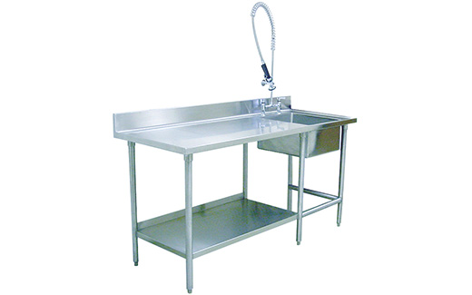 Stainless Prep Table With Sink : Veterinary Kennel Prep-Area Table With Sink TriStar Vet