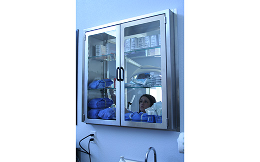 Veterinary Pass Thru Medical Window Cabinet Tristar Vet