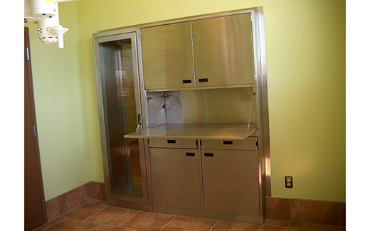 Fully Functional Veterinary Medical Cabinets In Stainless
