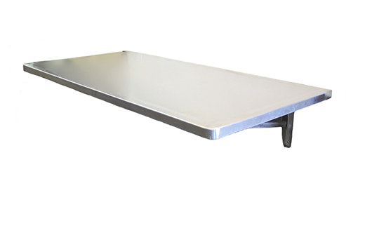 Wall mount stainless steel veterinary exam tables fold up - Wall mounted folding table ...