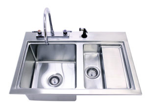 TriStar Vet photo: Choose our more extensive Veterinary Fecal Station or our simple Fecal Sink, both made of heavy-duty stainless steel