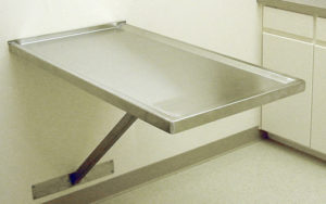 Veterinary Wall Mount-Fixed Exam Table