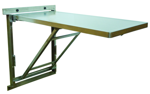 WallMount Stainless Steel Veterinary Exam Tables Fold Up With Ease