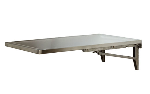 End Folding Wall Mount Veterinary Table Folds Down Stainless
