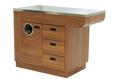 Veterinary Treatment Table in Wood Laminate